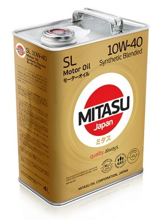 Масло моторное MITASU MOTOR OIL SL 10W-40 Synthetic Blended