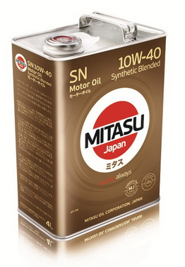 Масло моторное MITASU MOTOR OIL SN 10W-40 Synthetic Blended
