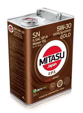 Масло моторное MITASU GOLD SN 5W-30 ILSAC GF-5 100% Synthetic